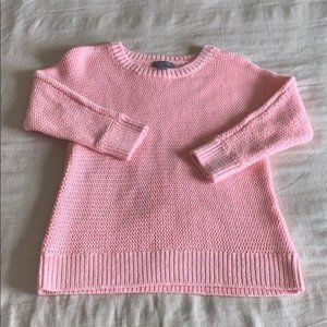Lands End Neon Chunky Knit Pullover Sweater S